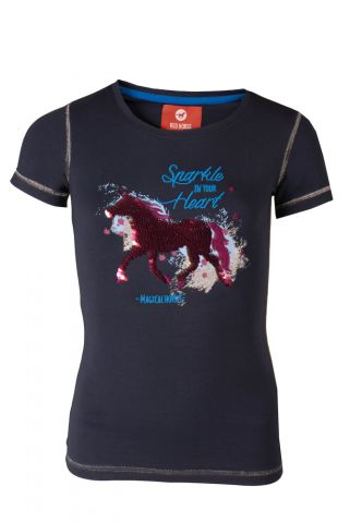 RED HORSE Sparkle - T-shirt - Navy