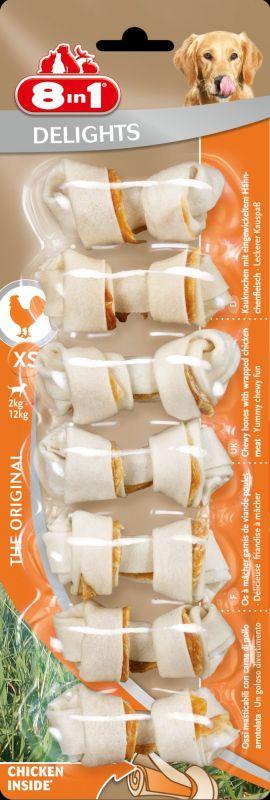 8IN1 Delights Kauwbotten Hondensnack Kip XS doos