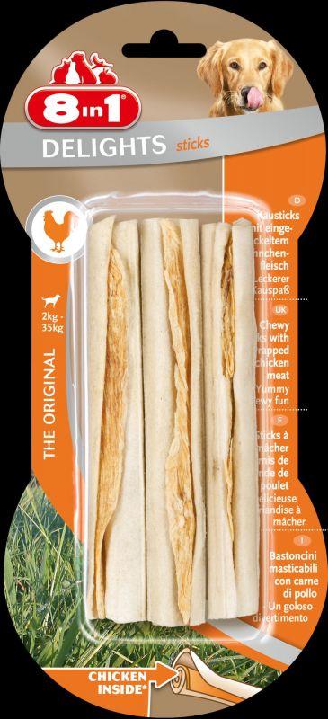 8IN1 Delights Kauwsticks Hondensnack Kip doos
