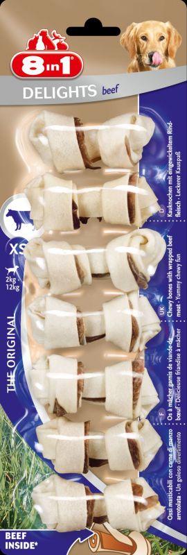 8IN1 Delights Kauwbot Hondensnack Rund XS doos