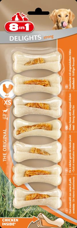 8IN1 Delights Bones strong Hondensnack XS 30cm doos 7stuks