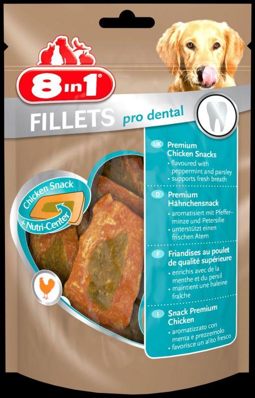 8IN1 Fillets Pro Dental Hondensnack Kip doos