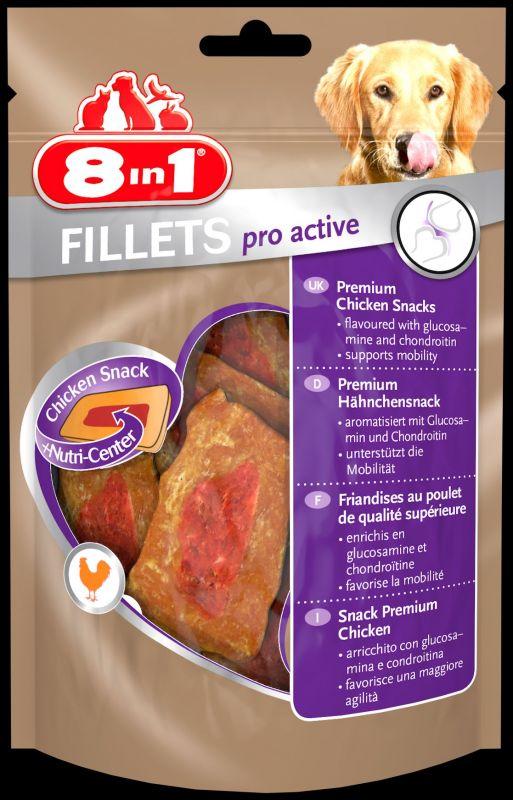 8IN1 Fillets Pro Active Hondensnack Kip doos