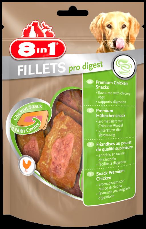 8IN1 Fillets Pro digest Hondensnack 19.5cm doos 80gram