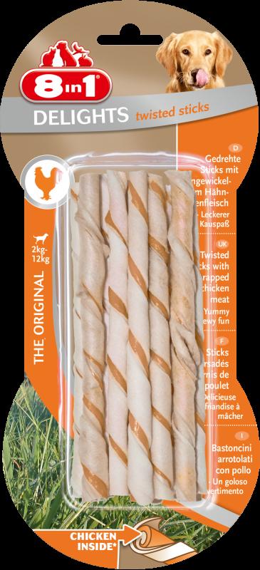 8IN1 Delights Twisted sticks Hondensnack 25.4cm doos 10stuks
