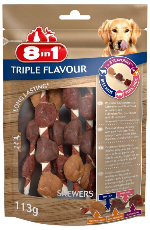 8IN1 Triple Flavour Skewers Skewers Hondensnack 6stuks