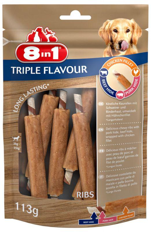 8IN1 Triple Flavour Ribs Hondensnack 6stuks